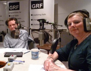 Darren & Margaret in GRF's studios for the August smallVOICE podcast recording