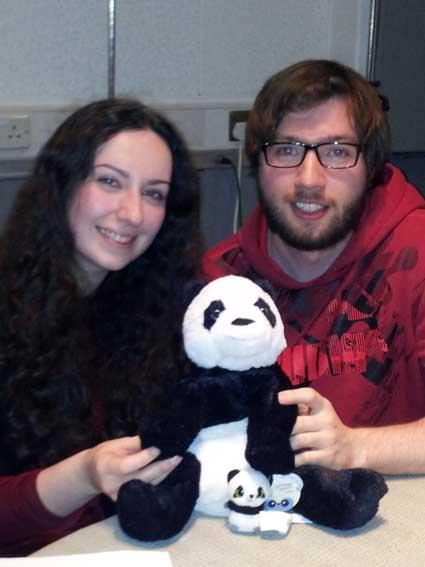 Katy, Ciaran & Pandas