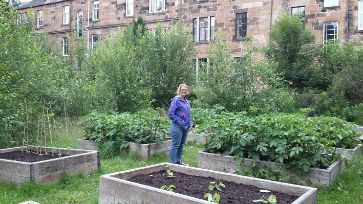 Keryn in garden