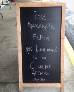 We commend the Book Loft book shop in Great Barrington, MA for keeping their sense of humour!
